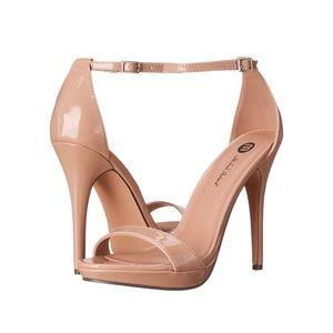 Michael Antonio Women's Lovina Patent Sandal Nude